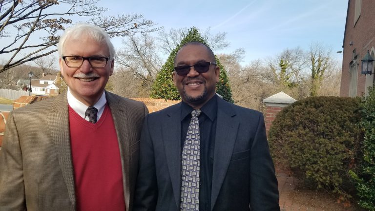 Rev. John Koepke and Abdullah Skerritt